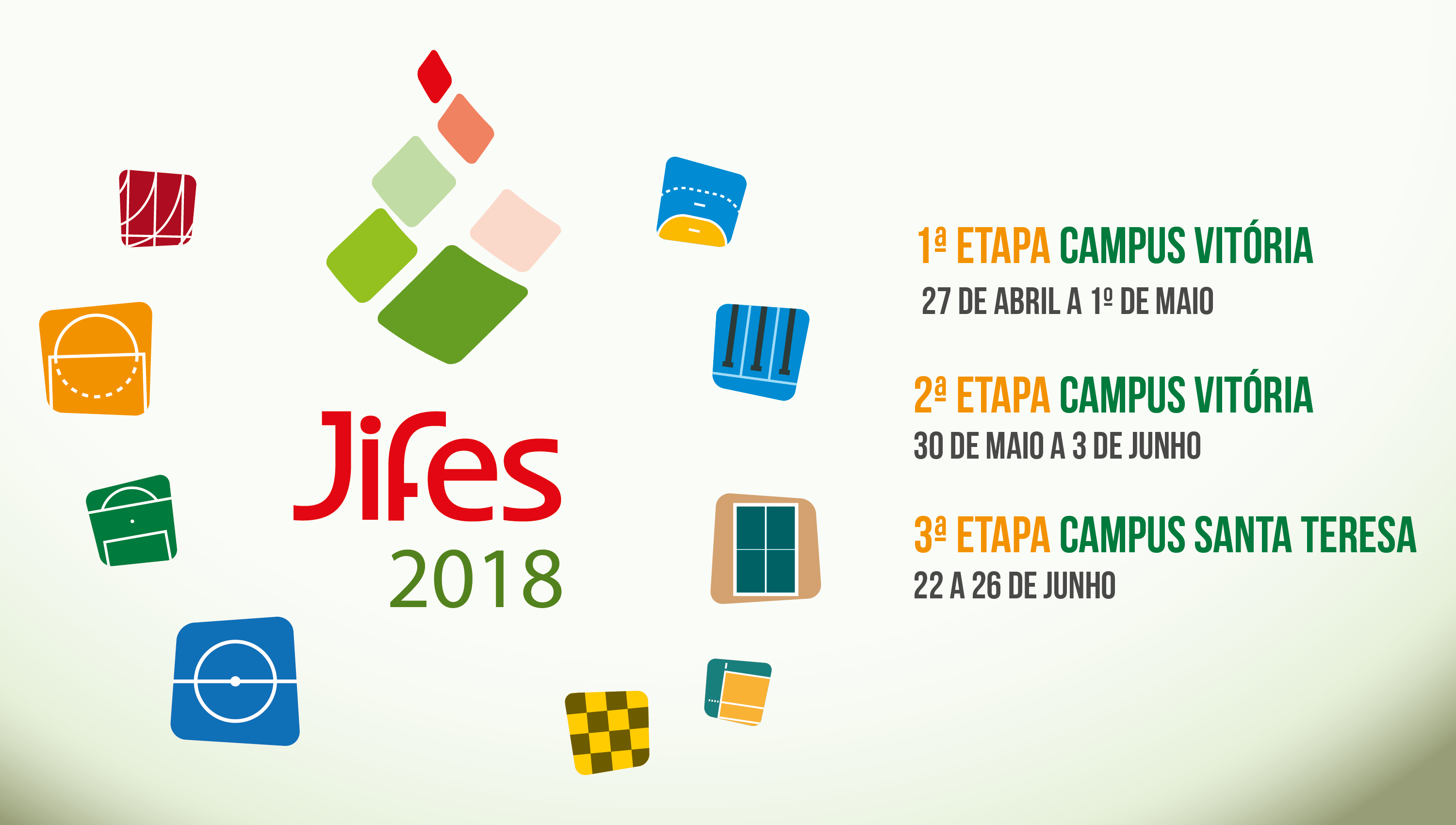 Disputas do Jifes 2018 começam no dia 27 de abril