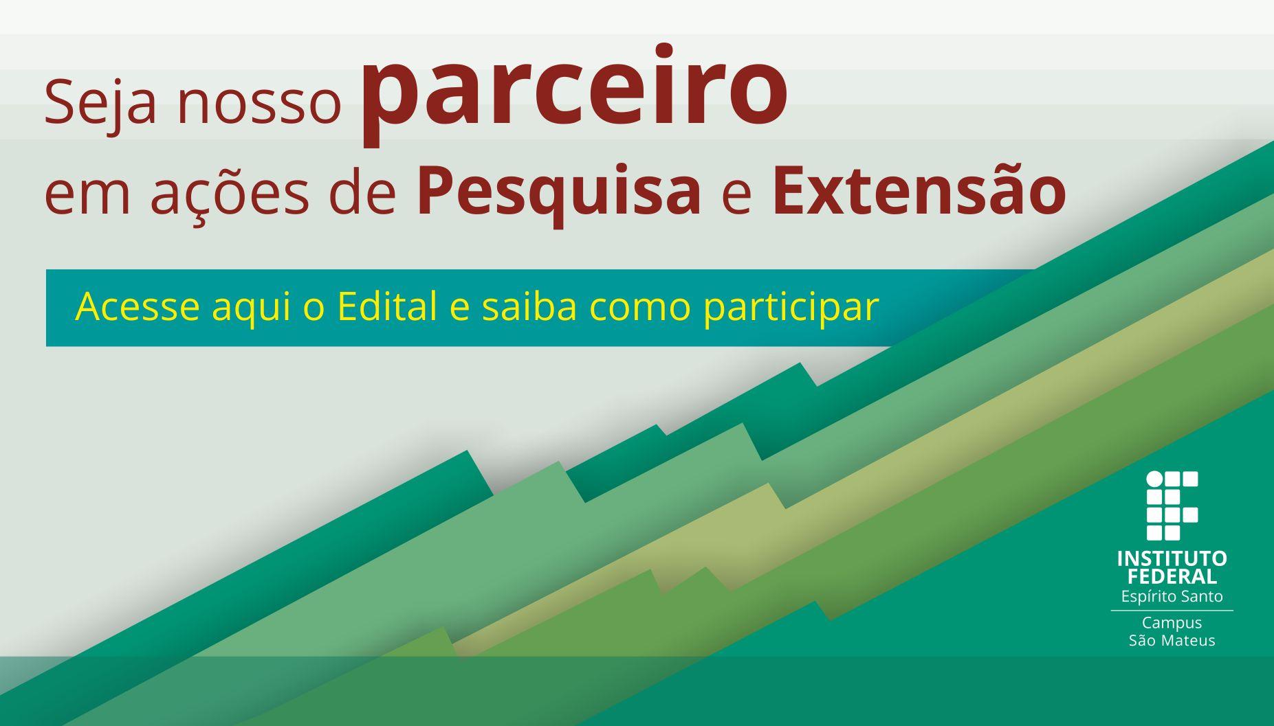 Chamada Pública para parcerias na Extensão e Pesquisa